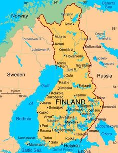 Finland re-calibrated to the new earth resonances on March Cool Countries, Countries Of The World, Finland Map, Regions Of Europe, Thinking Day, Baltic Sea, Summer School, Helsinki, Found Out