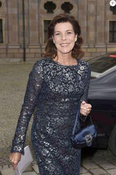 La princesse Caroline de Hanovre arrive à un dîner de gala de l'AMADE à Munich en Allemagne le 14 juin 2016.