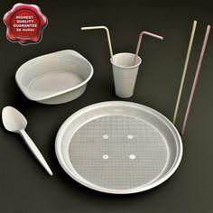 Disposable Tableware 3D Model - 3D Model