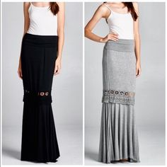Sold listing Black maxi skirt nwot Vivacouture Skirts