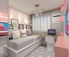 Down-to-earth teen girl bedrooms transformation for that cozy teen girl room display, pin number 4446606153 Dream Rooms, Dream Bedroom, Home Decor Bedroom, Bedroom Ideas, Girl Bedroom Designs, Teen Girl Bedrooms, Aesthetic Rooms, Home And Deco, New Room