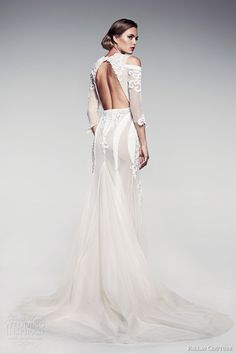 pallas couture bridal 2014 fleur blanche voelle wedding dress sleeves keyhole back