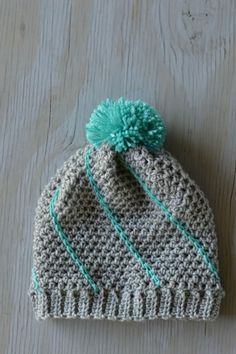 Diagonal Hatch Slouchy Hat