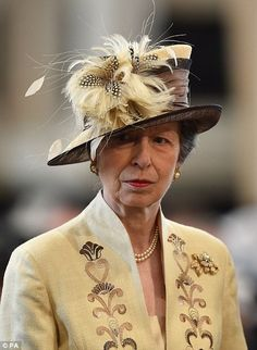 Britain's Princess Anne, Princess Royal, arrives to attend a national service of thanksgiving for the birthday of Britain's Queen Elizabeth II at St Paul's Cathedral in London on June 10 which. Get premium, high resolution news photos at Getty Images Thanksgiving Service, Queen 90th Birthday, English Royal Family, Zara Phillips, Elisabeth Ii, Estilo Real, Isabel Ii, Royal Red, Queen Elizabeth