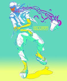 Slurp, Luay Garwan on ArtStation at https://www.artstation.com/artwork/slurp-17b3d7df-877a-444e-9488-e2a9b9869611