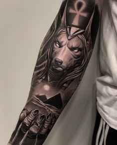 Carismático Login Likes, 22 Comments - ⚜️ ᴛᴀᴛᴛᴏᴏ ᴀʀᴛ. Egyptian Eye Tattoos, Egyptian Tattoo Sleeve, Wolf Tattoo Sleeve, Forearm Sleeve Tattoos, Best Sleeve Tattoos, Tattoo Sleeve Designs, Tattoo Designs Men, Realistic Tattoo Sleeve, Anubis Tattoo