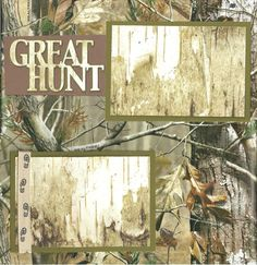 2 page Scrapbooking Layout Kit - Great Hunt by CropALatteToGo on Etsy