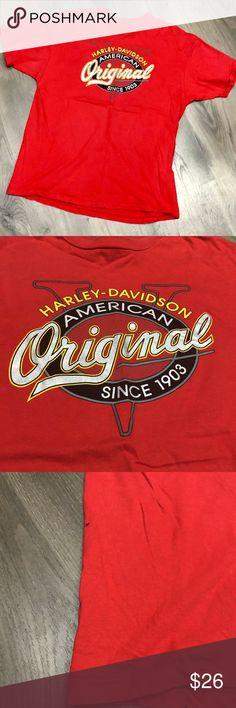 Harley-Davidson Mens Poured Out Motor Oil  Tie-Dye Orange Short Sleeve T-Shirt