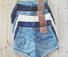 **NOTE**: WE ARE CURRENTLY OUT OF STOCK OF- US WOMEN 4 IN MEDIUM WASH, AND US 8 IN LIGHT WASH    These customized high waisted shorts are a perfect item