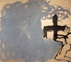 Antoni Tàpies (Spanish,  1923- 2012) Grey and Black, 1985