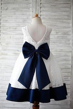A-line Scoop Sleeveless Bowknot Floor-Length Lace Flower Girl Dresses With Navy Sash A-Line Wedding Dress, Ivory Wedding Dress, Navy Wedding Dress, Lace Party Dress, Sleeveless Wedding Dress Prom Dresses 2020 Princess Flower Girl Dresses, Tulle Flower Girl, Cheap Flower Girl Dresses, Little Girl Dresses, Tulle Flowers, Toddler Pageant Dresses, Vestidos Fashion, Fashion Dresses, Girls Dresses Online