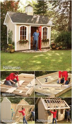 With these DIY shed plans, you will be able to build the storage sheds of your dreams without spending a lot of money plus these DIY shed plans are easy and quick to build. garden shed DIY Shed Plans Step By Step Tutorials Plans Loft, Shed Conversion Ideas, Shed Construction, Firewood Shed, Build Your Own Shed, Diy Shed Plans, Backyard Sheds, Garden Shed Diy, Building A Shed