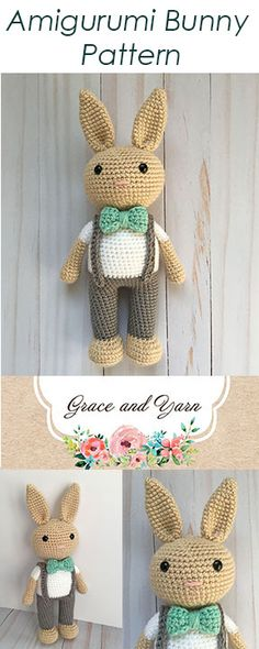 Free Amigurumi Bunny Pattern - Boy Version