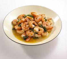 Two-Minute Shrimp Scampi. Can't go wrong here    http://recipes.womenshealthmag.com/Recipe/two-minute-shrimp-scampi.aspx