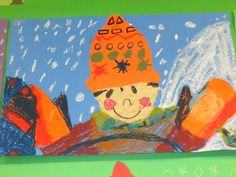 hats and mittens - perfect winter art!
