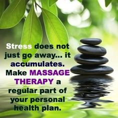 Stress does not go away... It accumulates. Makes massage therapy a regular part of your personal health plan. Book your massage today with Nicole at Ave Hair Styling and Day Spa, Topeka Ks