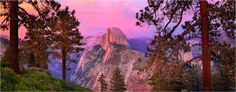 road trip / plan a trip to Yosemite National Park / watch the pink sunset / lovely evening / enjoy nature