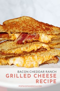 Grilled Ham And Cheese, Grilled Cheese Recipes, Bacon Recipes, Grill Cheese Sandwich Recipes, Steak Sandwiches, Burger Recipes, Grilled Cheese Sandwiches, Grill Breakfast, Bacon On The Grill