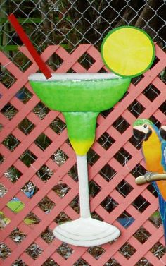 44in Hand Crafted metal Margarita Drink wall art