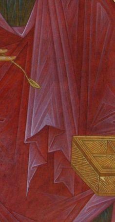 Religious Icons, Religious Art, George Tooker, Icon Clothing, Male Icon, Eye Details, Byzantine Icons, Draped Fabric, Orthodox Icons