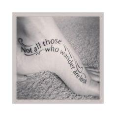 not all those who wander are lost tattoo leg - Hľadať Googlom