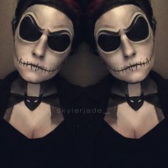 Day 40! Boys and girls of every age, wouldn't you like to see something strange? Sorry for posting so late!! To make up for it, today's look is the verrrry highly requested Jack Skellington.  #100DaysOfMakeup #jackskellington #disney #disneymakeup #nightmarebeforechristmas #makeup #mua #makeupartist #skullmakeup #skull #jackskellingtonmakeup #nightmarebeforechristmasmakeup #love #photooftheday #nyx #nyxcosmetics #morphebrushes @nyxcosmetics @morphebrushes @disney @timburton_ @timburtonmovies