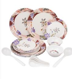 Aura Floral 24 Pcs Melamine Dinner Set MRP Rs 1299/- worth @ Rs 399/- only | Pepperfry.com - Daily Deals and Discount India, Free Classifieds Ads In India, Local Classifieds Advertisement India | classifiedDeal com