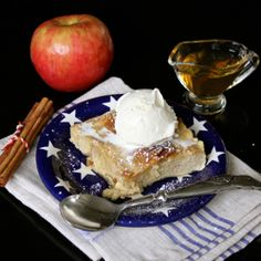 What to do with left-over Hot Cross Buns? Make Bourbon Apple Cinnamon Bread Pudding!