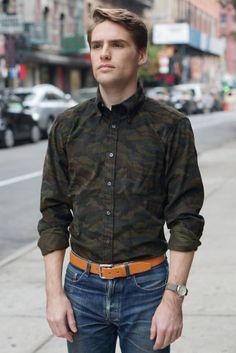 Buttondown Collar Japanese Camo Corduroy by Epaulet | Epaulet New York
