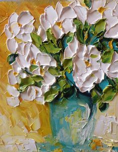 Original Art Oil Painting Abstract White by IronsideImpastos