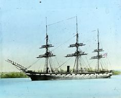 The Civil War also had naval battles on the Atlantic Ocean, the Gulf of Mexico, and the Mississippi River. Pictured: A Union ship in 1861.
