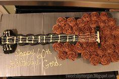 Sweets by Morgan: Guitar Cupcake Cake