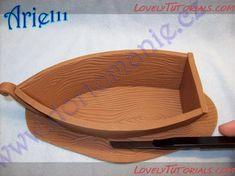 Как слепить лодку!- How to make a gumpaste (fondant) boat - Мастер-классы по украшению тортов Cake Decorating Tutorials (How To's) Tortas Paso a Paso