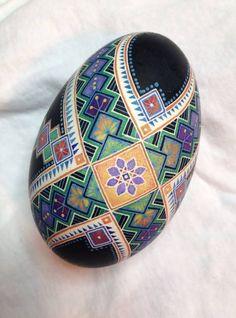 pysanky - pisanki - batik goose egg, Ukrainian style egg
