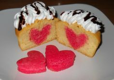 Muffin with heart inside
