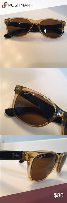 Rayban Wayfarer Sunglasses (Polarized) Translucent colored Rayban Wayfarer sunglasses. Polarized. Good condition! Accessories Sunglasses