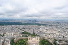 View Paris from up high - Eiffel Tower, Paris, France. Hike up and you save time and money. And get bragging rights!