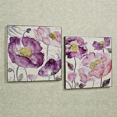 Poppy Rhapsody Floral Wall Art Set