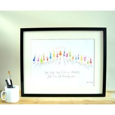 LÁMINA FRASE LENNON Frame, Home Decor, Art, Love Messages, Point Of Sale, Kids Rooms, Presents, Dots, Illustrations