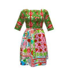 By Hand London Zeena Dress made with Spoonflower designs on Sprout Patterns…