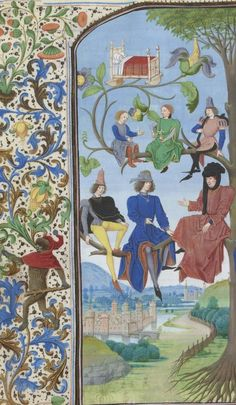 Bibliothèque nationale de France, Français 202, detail of f. 15v. Jehan Bouteiller, La somme rurale.  1471.