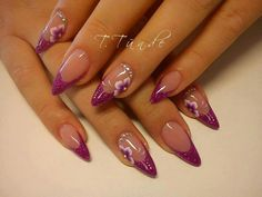 M Stiletto Nails, Gel Nails, Manicure, Nail Polish Art, Nail Art, Cute Nails, Pretty Nails, Nagellack Design, Pretty Nail Designs