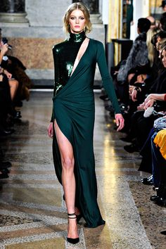 Fall 2011 Emilio Pucci Green Goddess Evening Gown image 3