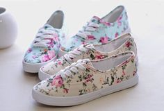 Turquoise/Beige/Black Floral Print Canvas KEDS Inspired RM 49   Extreme Svelte