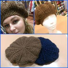 How to crochet a beret Love Crochet, Knit Crochet, Crochet Hats, Slouchy Hat, Beanie, Crochet Collar, Knitted Hats, Free Pattern, Diy And Crafts