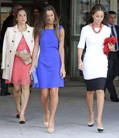 Ana Boyer, Isabel Preysler y Tamara Falcó en la Universidad Pontificia de Comillas en Madrid