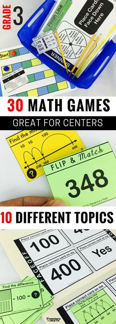 Math games are fun way to keep kids engaged at math centers. Check out these 30 games for your 3rd grade students.