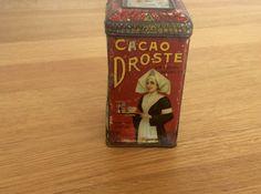 Ancienne boite en tôle de Cacao Droste des années 30 10956523