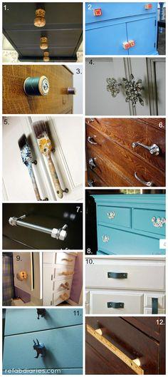 Upcycle: Ingenious drawer pulls and handles #DIYdrawerpulls #repurpose