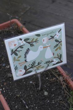$5 Congrats Stork Card